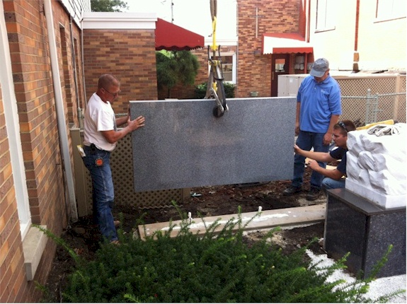 Design and install granite wall